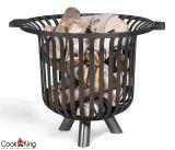 Cook King 111452 Verona Black Steel Garden Firebasket