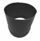 6 Inch 24 Gauge To Round Adapter Oval 4 1/4 Inch x 7 3/4 - Black
