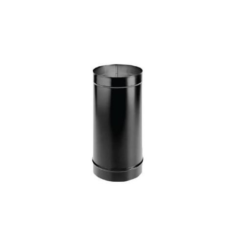 "DuraVent 7"" DuraBlack Welded Black Stove Pipe 12"" Length"