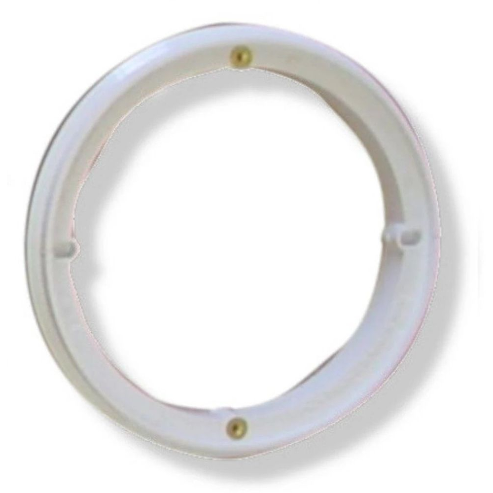 Afras 12051W Ring For ABF64 Drain Cover With 2 Screws - White