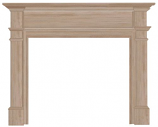 "The Windsor 48"" Fireplace Mantel - Unfinished"