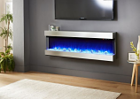 Evolution Fires 3 Sided Empire 72 Electric Fireplace - Stainless Steel