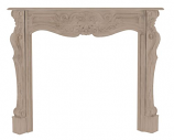 "The Deauville 58"" Fireplace Mantel - Unfinished"