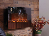 "Mirror Onyx 50"" Wall Mounted Electric Fireplace - Black"