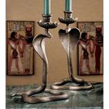Uraeus Cobra Candlestick By Design Toscano