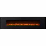 Regal Flame LW5095CE Huron 95in Black Electric Wall Mounted Fireplace - Crystal