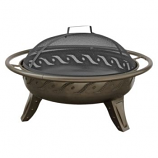 Landmann Patio Lights Firewave Fire Pit Metallic Brown - Matte Black