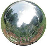 Rome 12 inch Silver Stainless Steel Gazing Globe