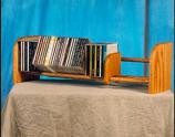 Solid Oak 1 Row Dowel CD Rack Model 101