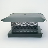 "Galvanized Single-Flue Chimney Cap - 12"" x' 12"""