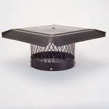 "HomeSaver Pro 12"" Galvanized Round Chimney Cap 3/4"" Mesh"