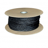 """Black Wood Stove Door Gasket Spool - 1/2"""" Rope x 88'"""