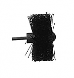"5"" Pellet Stove Brush - Twisted Wire Center With Ball Tip"