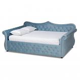 Wholesale Interiors Baxton Abbie Light Blue Queen Daybed