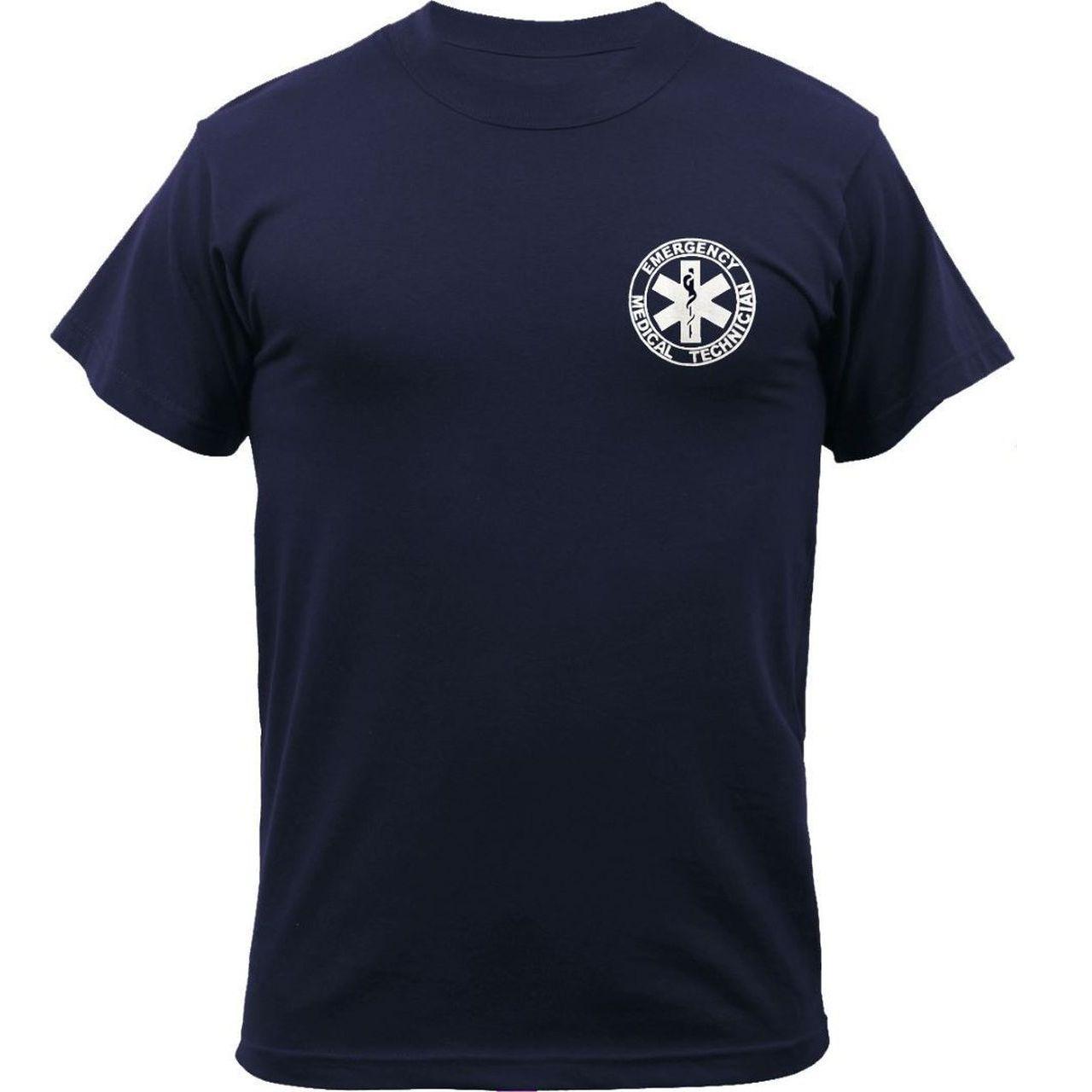 Kemp USA Navy EMT Shirt With Front And Back Logo - Medium