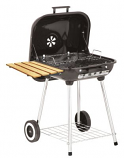 Marsh Allen Deluxe Covered Brazier Charcoal Wheeled Grill with Shelf - 22""