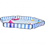 Sandy Bumz Lightweight Outdoor Picnic Ground Cover - Stripe Blue/White
