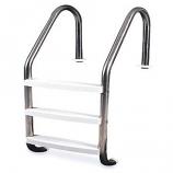 """Swimline 87905  3-Step Inground Stainless Steel Ladder 52.5"""" Height"""