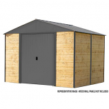 Ironwood Steel Hybrid Shed Kit 10 x 12 ft. Galvanized Anthracite