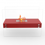 Regal Flame EF6003R Ionic Ventless Free Standing Ethanol Fireplace in Red
