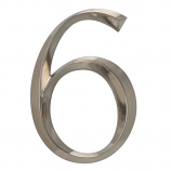 Classic 6 Inch Number  6  Polished Nickel