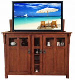 Bungalow Full Size Lift Cabinet - Chestnut Mission
