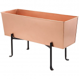 Achla Designs Copper Flower Box with Folding Stand