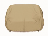 Two Dogs Loveseat Cover - Khaki