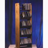 Solid Oak 5 Row Dowel CD Rack Model 504