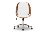 Watson Modern and Contemporary White and Walnut Office Chair