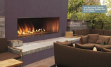 """Empire Carol Rose 48"""" Outdoor SS Linear Fireplace - NG"""