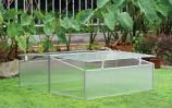 Zenport SH7005-2-ZD Double-Wide Folding Aluminum Cold Frame Greenhouse