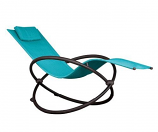 Vivere ORBL1-TT Orbital Lounger - Single- True Turquoise