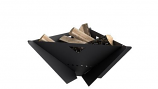 MF Fire MI-MFD-B Delta Wood Burning Firepit in Black - Collapsible