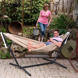 C9SUNS Vivere's Combo - Sunbrella Sand Hammock with Stand- 9ft