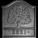 """18"""" x 20"""" Dated Great Oak Fireback"""