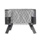 "HY-C 15 x 15 Single Flue Chimney Cap, Black Galv Steel, 3/4"" Mesh"
