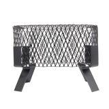 """9 x 13 Single Flue Chimney Cap in Black Painted Steel, 3/4"""" Mesh"""
