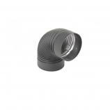 "Heat-Fab 6"" Black 90 Degree Corrugated Elbow Nonadjustable"