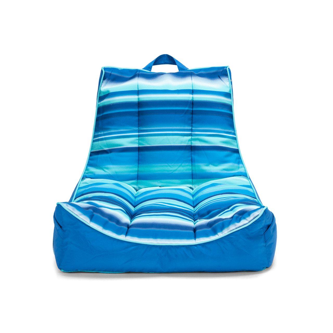 Big Joe Captain's Pool Float - Blurred Blue