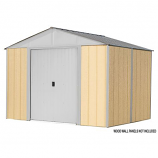 Ironwood Steel Hybrid Shed Kit 10 x 8 ft. Galvanized Cream
