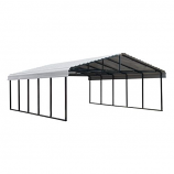 Arrow Galvanized Steel Carport in Eggshell - 20' x 24' x 7'