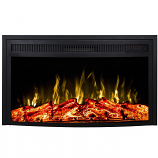Regal Flame LW2033CRV 33in Curved Ventless Heater Electric Fireplace Insert