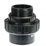 Waterco 1222414 Barrel Union Thrd 1.5in NPT and 40mm - Black