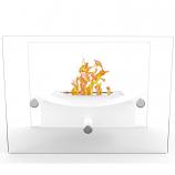 Regal Flame ET7012WHT Arkon Tabletop Portable Bio Ethanol Fireplace in White