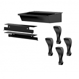 Osburn OA10226 Black Cast Iron Leg Kit with Ash Drawer and Safety Lid