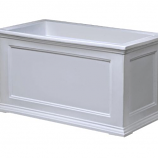 Arett M19-5826W Rectangular Patio Planter White
