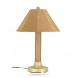 "26175- Bahama Weave 34"" Mojavi Wicker Outdoor Table Lamp"