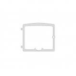 Osburn OA10706 Brushed Nickel Cast Iron Door Overlay