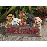 Puppy Parade Welcome Sign By Design Toscano